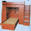 Custom Made Twin/Full Loft Bed T-6(CT)
