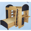 Custom Made Twin/Twin Loft Bed FH-75(CT)