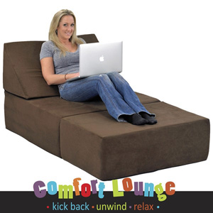 Studio Chair Sleeper Memory Foam Comfort Lounge Sleeper