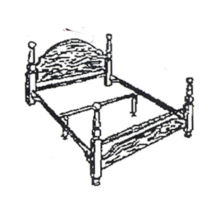 bed frames rails queen size bed rail for head footboard 2401 cofs. Black Bedroom Furniture Sets. Home Design Ideas