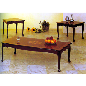coffee table: queen anne square table set 3098 co