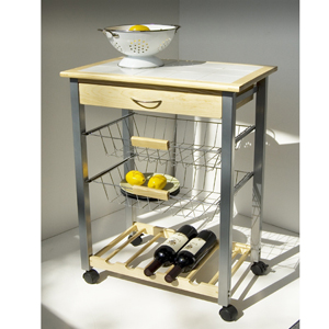 Pine Kitchen Cart 34122(OI)