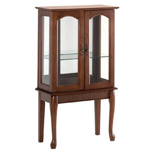 Simply Elegant Wood Glass Curio Cabinet 35038(AZFS)