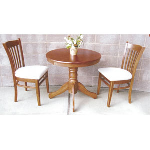 3-Pc Solid Wood Bistro Set 352_/525_(SB)
