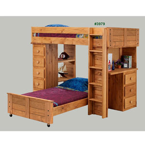 Twin Study Bunk Loft Bed 3976(PC)