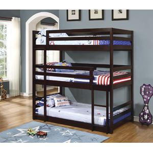 Wood Triple Convertible Bunk Bed 400302(COFS)