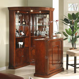 Bar Units 4pc Yorkshire Corner Wine Cabinet With Stand 40100 ML