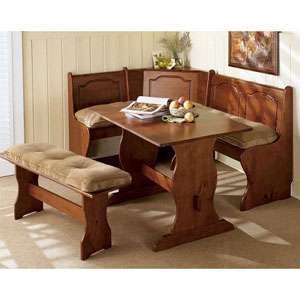 Kitchen Corner Nook Cushions: 4 Pc Destiny Solid Kitchen Nook Cushion ...