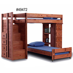 wooden loft beds solid wood loft bed with stairs 39472 pc