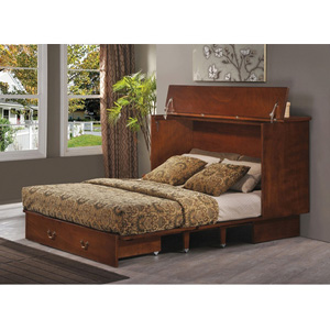 Queen Size Traditional Flip Top Cabinet ZzZ Bed 503-15-A(FUF