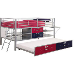 Junior Twin Locker Loft with Shelves 5564196(WFS)