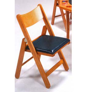 Oak Folding Chair 6186 (WD)