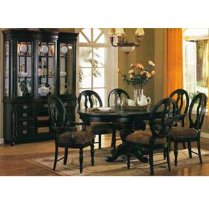 formal dining sets heritage black finish dining table 6980 a