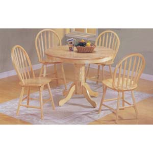 5-Piece Natural Finish Dinette Set 7020 (A)