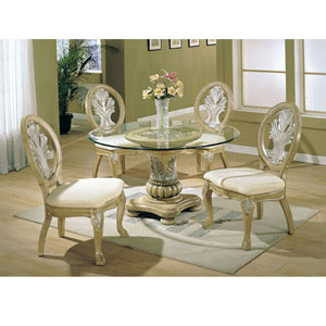 Formal Glass Top Dining Set Acme Furniture Coronado Dinning Room 5 Piece 087