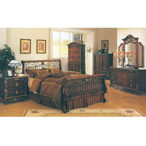 Bedroom Furniture Bourdeax Marble Top Bedroom Set 9 A