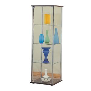Modern Design Glass Curio in Cappuccino 950172(CO)