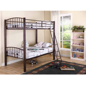 institutional bunk bed heavy duty dorm metal convertible bunk bed b400 b kb. Black Bedroom Furniture Sets. Home Design Ideas