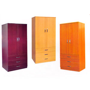 Two Door Three Drawer Wardrobe WD-601(FM)