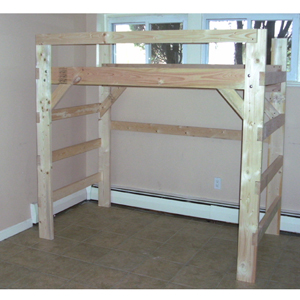 The Manhattan Heavy Duty Solid Wood $198 Loft Bed & Bunk Beds for Home ...