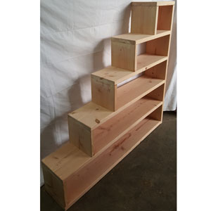 Custom Made Stairs For Loft Of Bunk Bed Solid Wood Custom