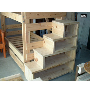 Loft Of Bunk Bed: Solid Wood Custom Made Stairs For Bunk Or Loft Bed ...