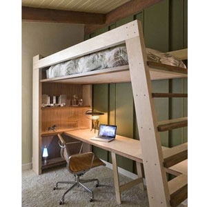 Loft Bed Xo Solid Wood Loft Bed With Bookcase And Angle