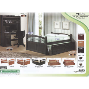 york solid wood twin or full size captains bed 223pi