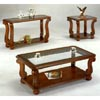 Glass And Wood Occasional Tables