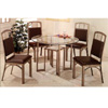 5-Pc Brown Metal Dining Set 120001/02 (CO)