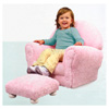 Pink Chenille Upholstered Rocker & Ottoman 18620 (KK)