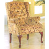 Burgundy Chenile Wing Chair 2012-22 (WD)