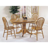 Solid Wood Nostalgia Deluxe 5-Pc Dining Set 2186T/6344(AFS)