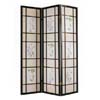 3 Panel Black Finish Wooden Screen 2254 (A)