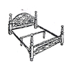 Queen Size Bed Rail For Head/Footboard 2401 (COFS)