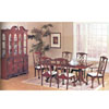 7-Piece Cherry NC-Lacquered Finish Dinette Set 2444FA (A)