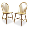 Windsor Dining Chair in Natural Finish (Set of 2) (WWFS)