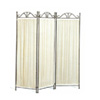 Three Panel Pleated Fabric Screen in Iron 2483(CO)
