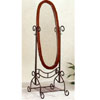 Textured Verde & Dark Cherry Finish Cheval Mirror 2486 (CO)