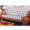 Oak Finish Solid Wood Futon W/Storage Space 2567A (IEM)