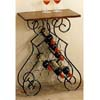 Wine Rack With Wood Top 2591 (CO)