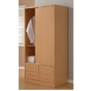 Sliding Door Wardrobe w/4 Drawers WD26039 (ESFS150)