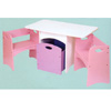 Table w/Pastel Benches 26162 (KK)