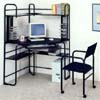2Pc Set Black Corner Fit Computer Desk With Chair 2699 (CO)