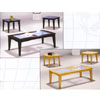 Frosted Glass Occasional Table Set 2909/05 (WD)