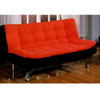 Red and Black Futon Sofa/Bed CM2574(IEM)