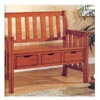 Brown Cherry Storage Bench 300075 (CO)