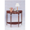 Cherry Finish Crescent Sofa Console Entry Side Table 3052(CO