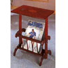 Cherry Finish Parquet Tea Table With Magazine Rack 3237 (CO)