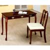 2-Pc Cherry Finish Secretary Desk & Matching Chair 3270 (CO)